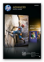 HP Advanced Glossy Photo Paper-60 sht/10 x 15 cm borderless, 250