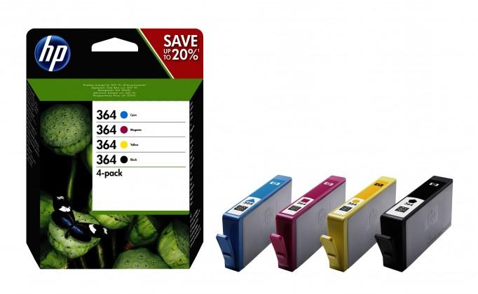 HP J3M82AE 364 Čtyřbalení originálních inkoustových kazet-CMYK
