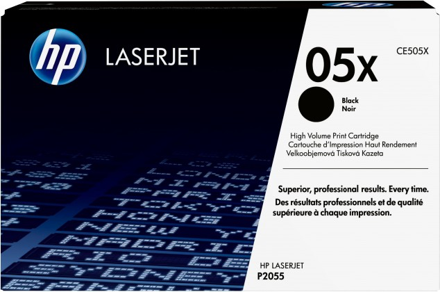 HP tisková kazeta CE505X velká, černá
