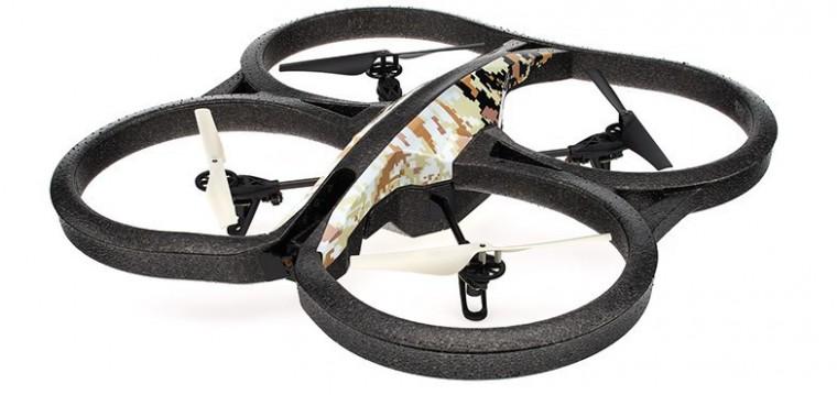 Hračky a gadgety Parrot AR.Drone 2.0 EE Sand + navigační modul GPS