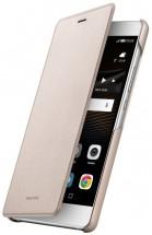 Huawei flip pouzdro Original Folio pro P9 Lite, zlatá POUŽITÉ