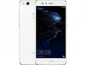 Huawei P10 Lite DS, bílá + flipové pouzdro a ESET