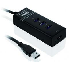 I-BOX HUB USB 3.0, 4 porty, černý