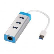 i-tec USB 3.0, 3 Port, LAN (U3GLAN3HUB)