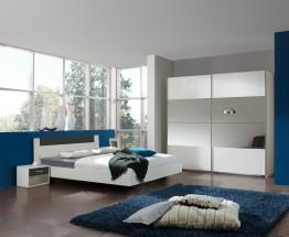 Ilona - Komplet 5, postel 140 cm (alpská bílá, antracit)