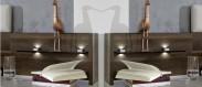 Imola - Panel na noční stolek, sestěnou, 2 ks (champagne, nocce)