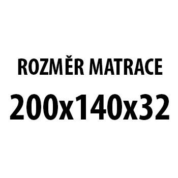 Imperial - Matrace 140x200x32 (H3 medium, potah Stressfree)