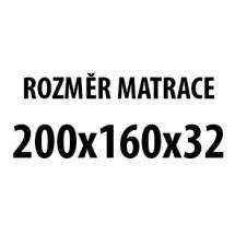 Imperial - Matrace 160x200x32 (H3 medium, potah Stressfree)