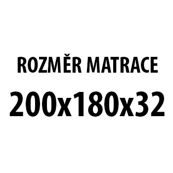 Imperial - Matrace 180x200x32 (H3 medium, potah Stressfree)