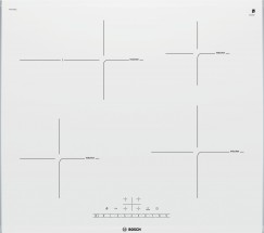 Indukční varná deska Bosch,60cm,4zóny,1xpečící,7,4kW,bílá