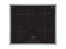 Indukční varná deska Bosch,60cm,4zóny,1xpečící, 7,4kW,nerez.rám
