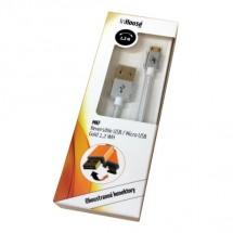 InHouse MKF-Reversible USB/ Micro USB Gold 1,2 BK, bílý