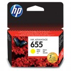 Inkoustová kazeta HP CZ112AE, HP 655 žlutá