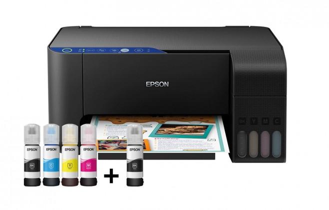 Inkoustová tiskárna Multifunkční inkoustová tiskárna Epson EcoTank L3151 barevná