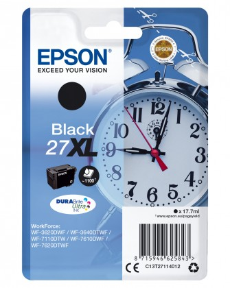 Inkoustové barvy Epson Singlepack Black 27XL DURABrite Ultra Ink