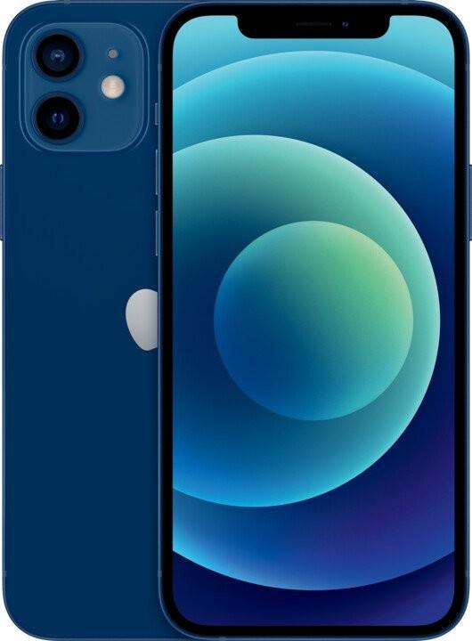iOS Mobilní telefon Apple iPhone 12 128GB, modrá