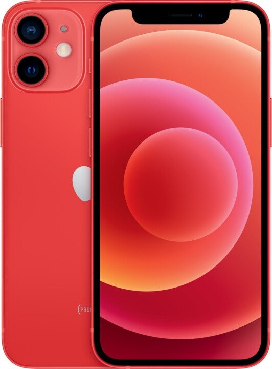 iOS Mobilní telefon Apple iPhone 12 mini 128GB, červená