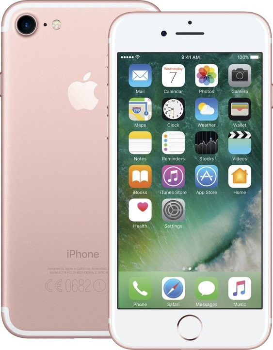 iOS Mobilní telefon Apple iPhone 7 32GB, růžová