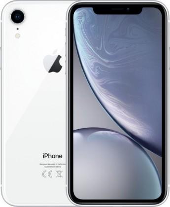 iOS Mobilní telefon Apple iPhone XR 128GB, bílá ROZBALENO