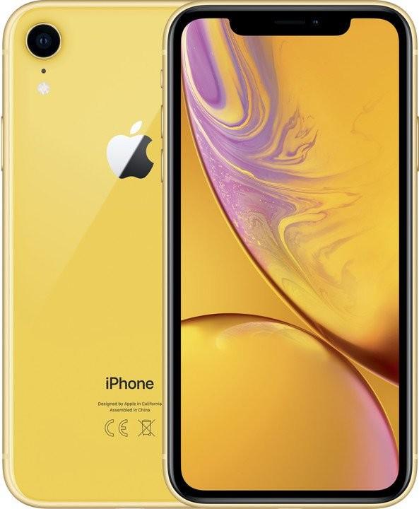 iOS Mobilní telefon Apple iPhone XR 64GB, žlutá