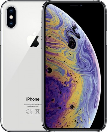 iOS Mobilní telefon Apple iPhone XS 64GB, stříbrná
