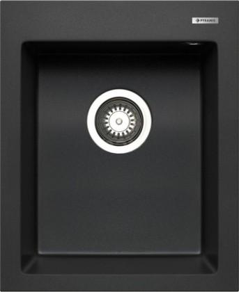 Istros - Granitový dřez 41x50, 1B, černá
