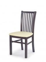 Jacek - Jídelní židle (krémová, tmavý ořech)