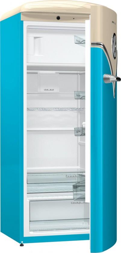 Jednodveřové s mrazákem Jednodveřová lednice Gorenje OBRB153BL, A+++