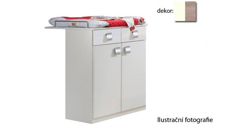 Jette - 321221 (alpská bílá / dub řezaný)