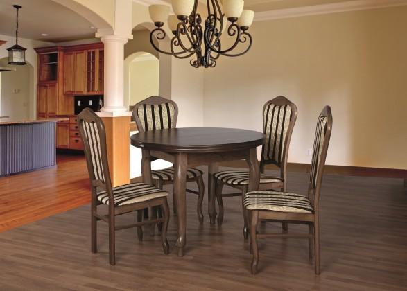 Jídelní set 29 - Stůl O 100,4x židle (dub rustikální/lira 4)