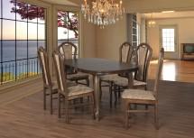 Jídelní set 30 - Stůl 160x90,6x židle (dub rustikální/monako 2A)