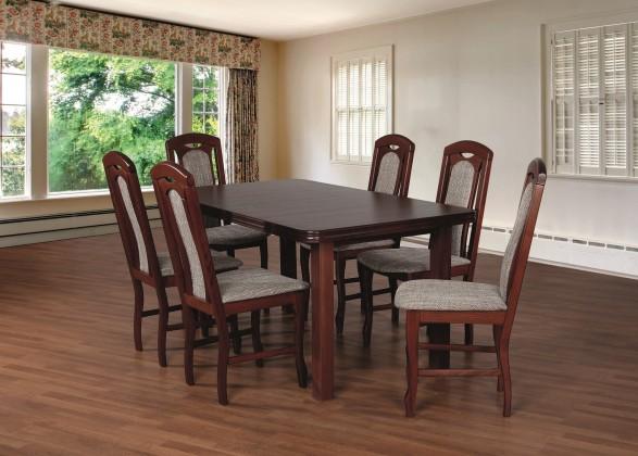 Jídelní set Jídelní set 18 - Stůl 160x90,6x židle (ořech střední/lawa 2)