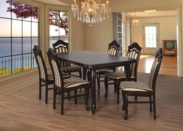 Jídelní set Jídelní set 23 - Stůl 160x90,6x židle (dub soltysiak/lira 4)