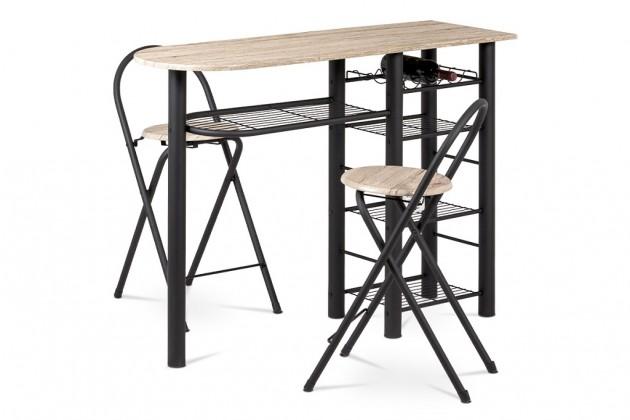 Jídelní set Jídelní set Petit - 2x židle, 1x stůl (dub, černá)