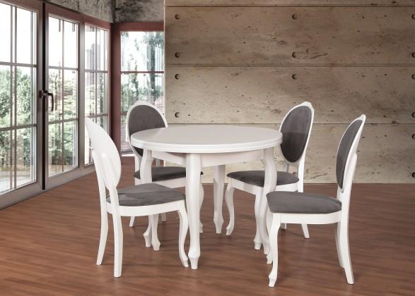 Jídelní set Set 2 - 4x židle, stůl, rozklad (dýha dub/cayenne 13/masiv buk)