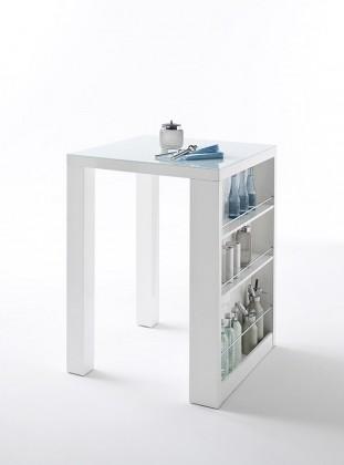 Jídelní stoly Barový stolek Clero (bílá)