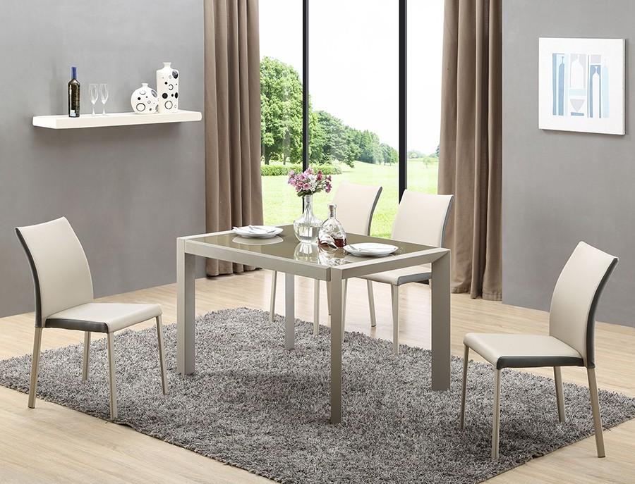 Jídelní stoly Jídelní stůl Arabis  (sklo,světle hnědá/béžová)