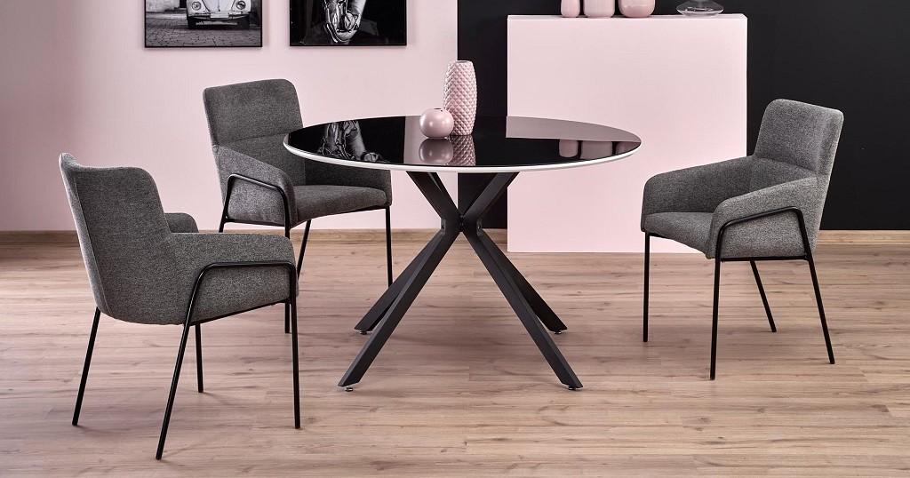 Jídelní stoly Jídelní stůl Arthur (černá, bílá)