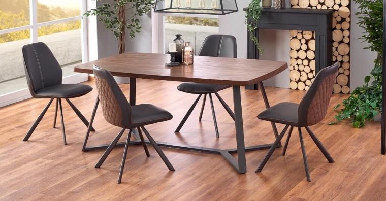Jídelní stoly Jídelní stůl Caleb (dub, grafit)