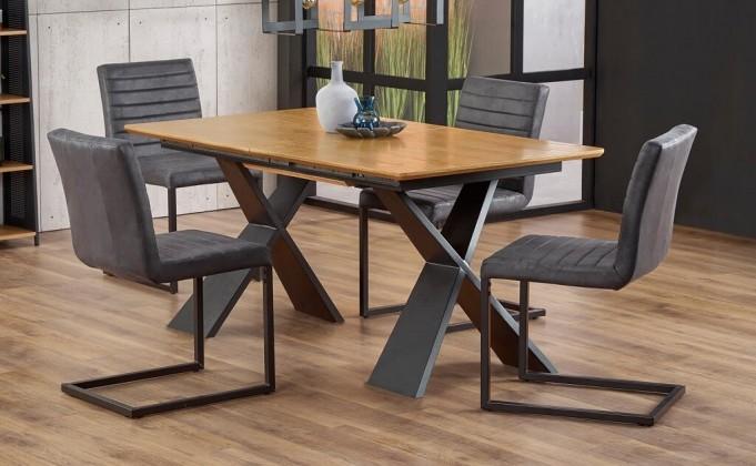 Jídelní stoly Jídelní stůl Cassius rozkládací (dub, černá)
