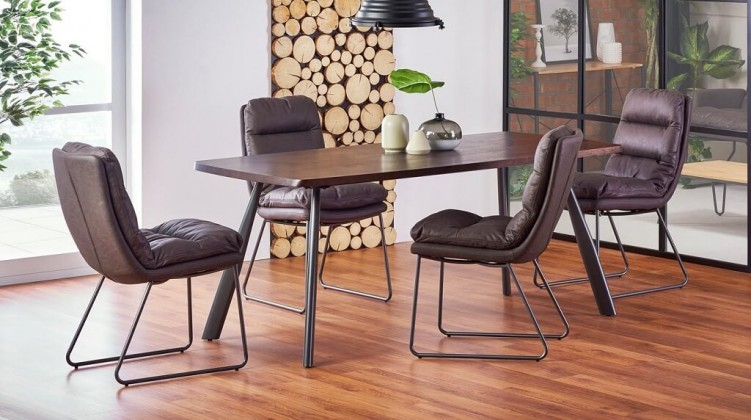 Jídelní stoly Jídelní stůl Finn (ořech, šedá)
