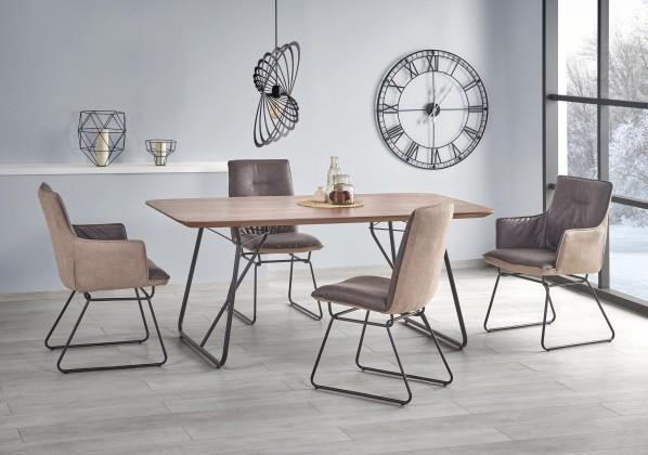 Jídelní stoly Jídelní stůl Houston - 180x90x76 cm (ořech/černá)
