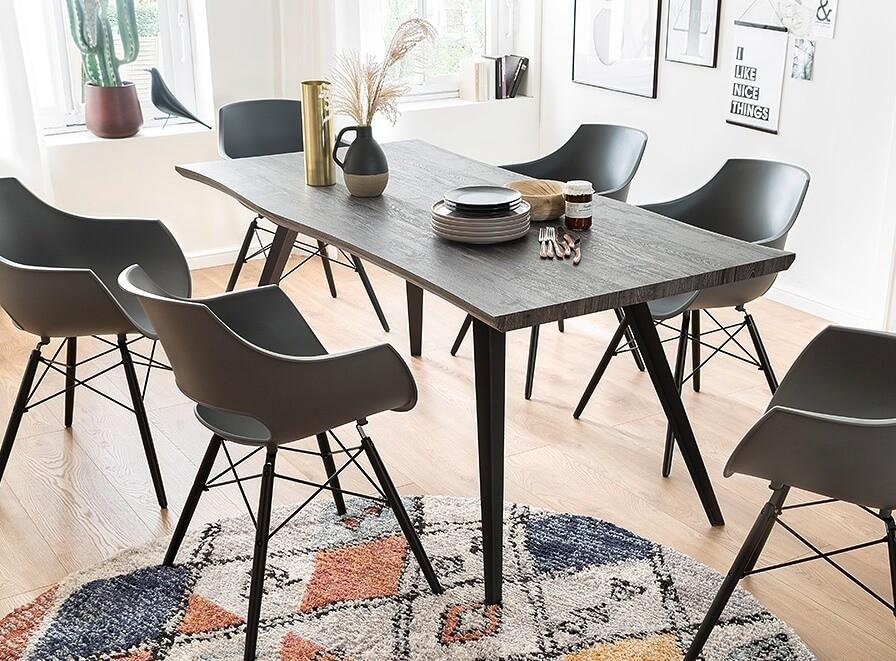 Jídelní stoly Jídelní stůl Jerry (dub, černá)