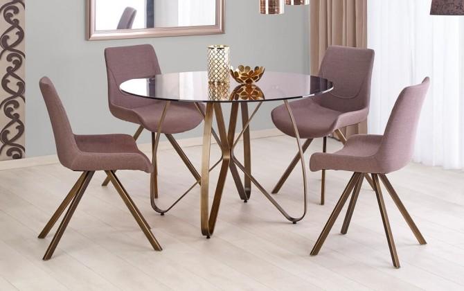 Jídelní stoly Jídelní stůl Liam (hnědá, zlatá)