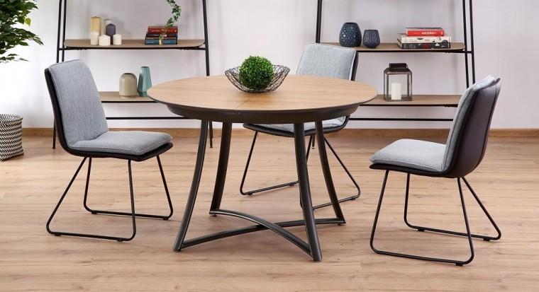 Jídelní stoly Jídelní stůl Miles rozkládací (dub, černá)