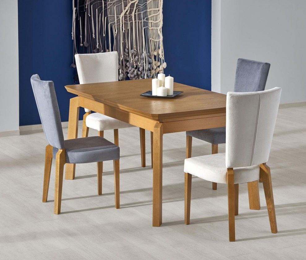 Jídelní stoly Jídelní stůl Rois - rozkládací , 160-250x90x78 (dub medový)