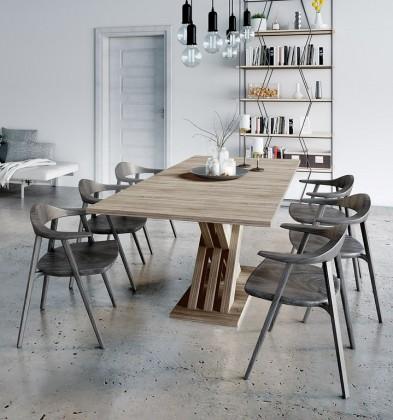 Jídelní stoly Jídelní stůl rozkládací Ettore (dub sonoma)