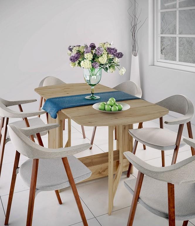 Jídelní stoly Jídelní stůl rozkládací Jannick (dub dakota)
