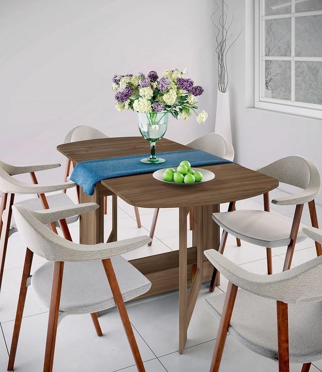 Jídelní stoly Jídelní stůl rozkládací Jannick (ořech admiral)