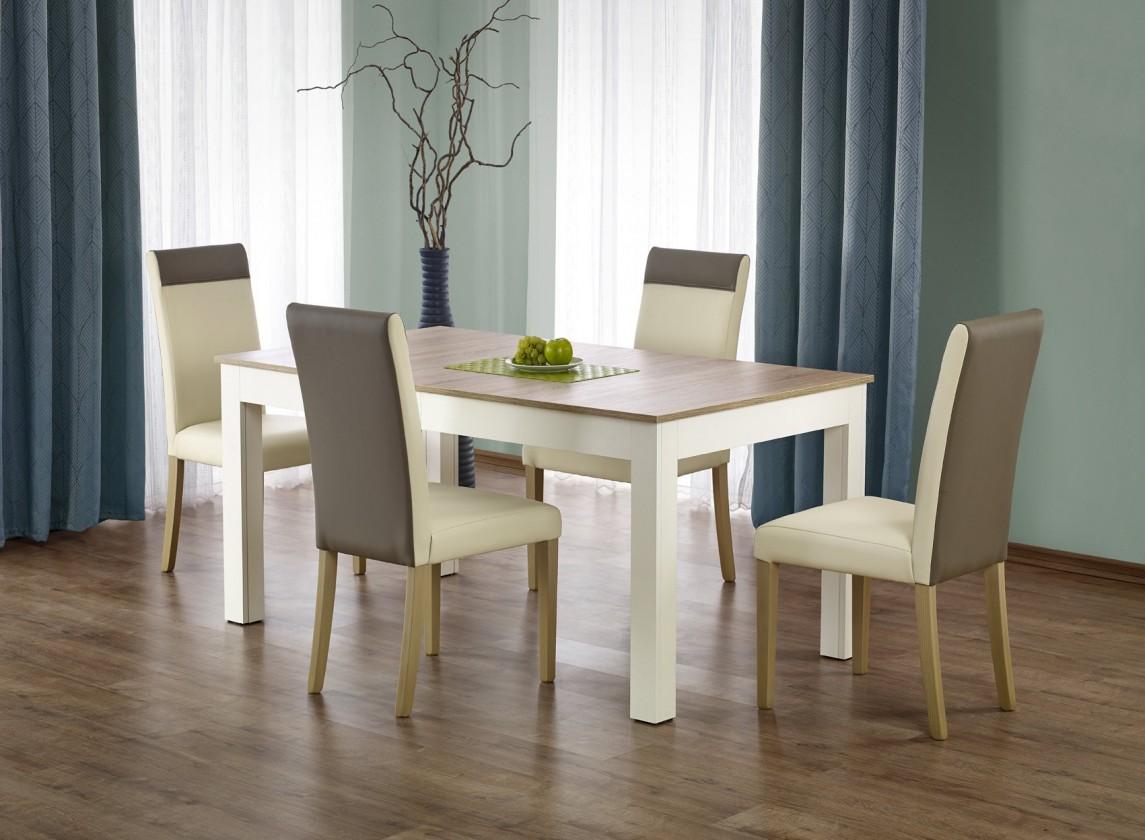 Jídelní stoly Jídelní stůl Seweryn - 160-300x90 cm (dub sonoma/bílá)